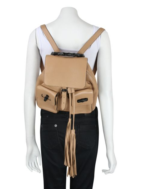 Mochila Gucci Bamboo Sac Leather Backpack