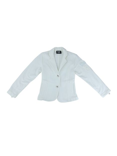 Blazer D&G Junior Tecido Off White Infantil