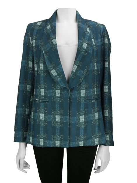 Blazer Mixed Crepe Estampado