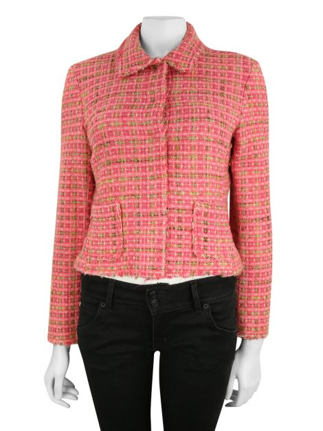 Blazer Mixed Tweed Rosa