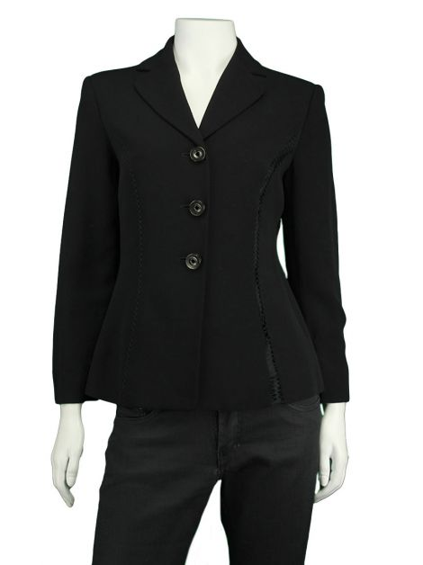 Blazer Moschino Cheap & Chic Costuras Preto