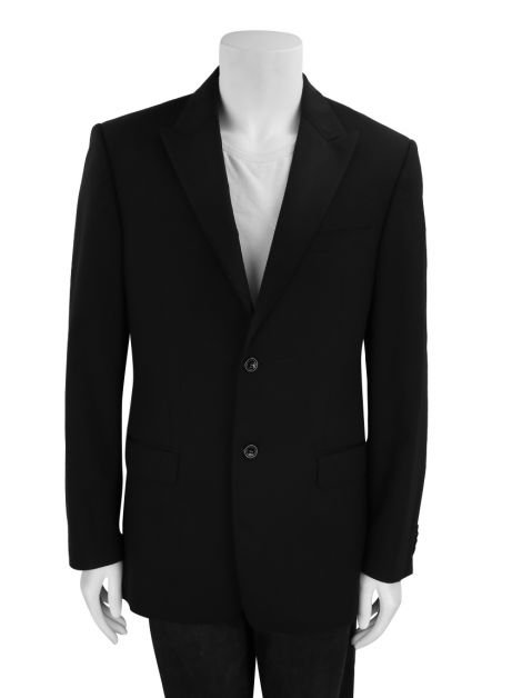 Blazer Versace Collection Lã Preto Masculino
