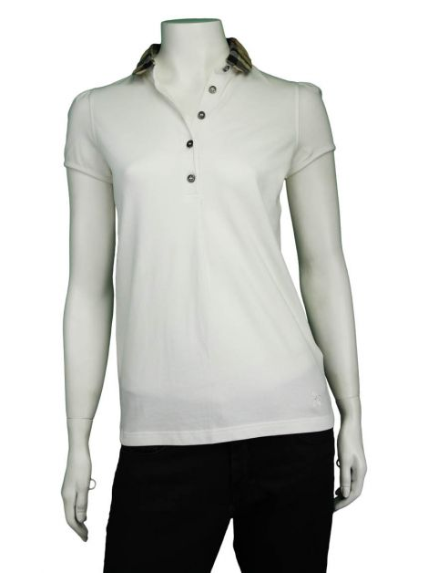 Blusa Burberry Polo Off-White