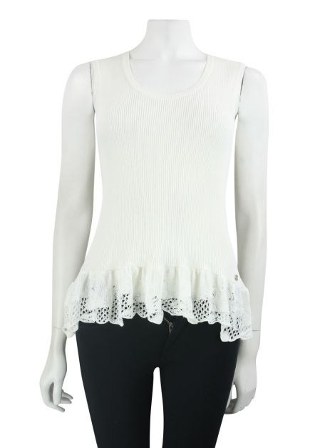 Blusa Chanel Canelada Off White