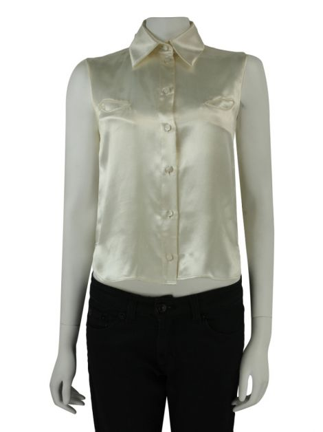 Blusa Chanel Cintilante Off White
