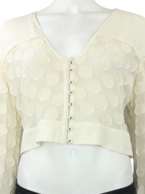 Blusa Cris Barros Cropped Off White