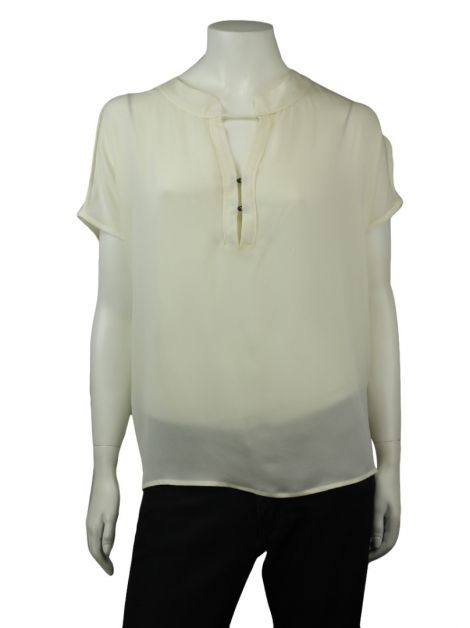 Blusa Cris Barros Seda Off-White