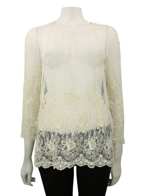 Blusa Flying Tomato Renda Off White