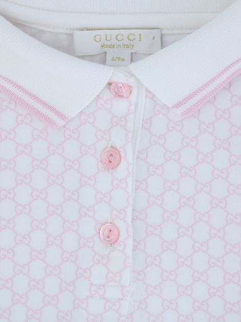 Blusa Gucci GG Canvas Bicolor Infantil