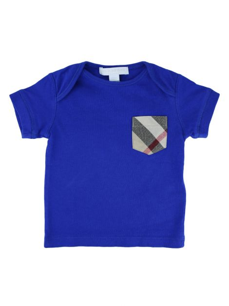 Camiseta Burberry Children Azul Infantil