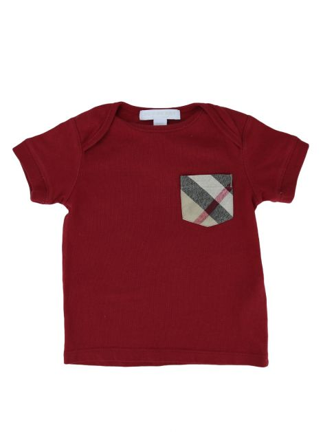 Camiseta Burberry Children Vermelha Infantil
