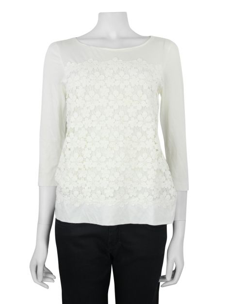 Blusa J.Crew Renda Off White