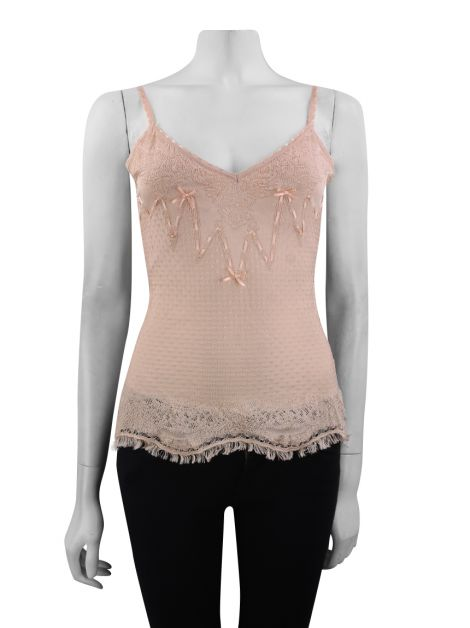 Blusa John Galliano Renda Rose