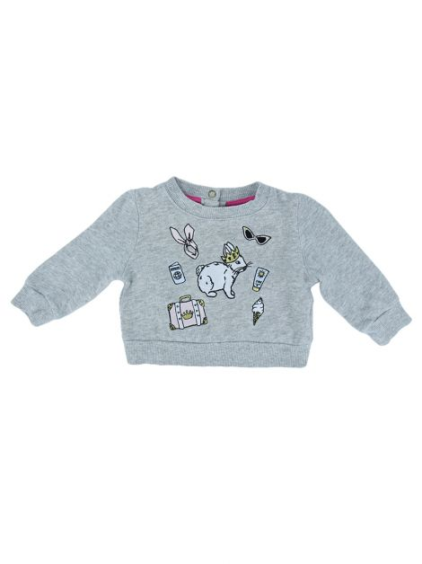 Blusa Juicy Couture Estampada Manga Longa Infantil