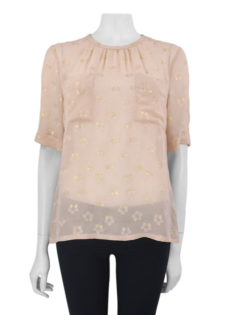 Blusa Marc by Marc Jacobs Seda Nude