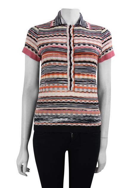 Blusa Missoni Polo Colorida