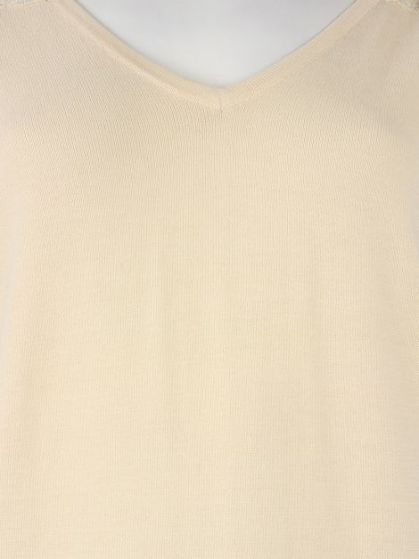 Blusa Mixed Renda Nude