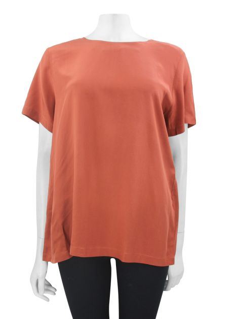 Blusa Mixed Seda Terracota