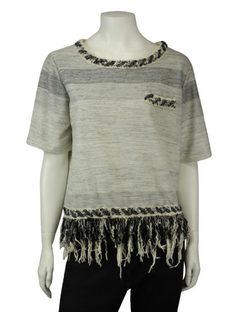 Blusa Mixed Tricot Cinza