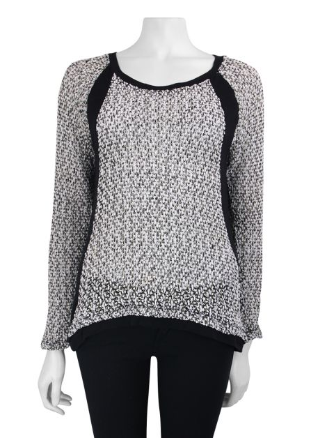 Blusa Mixed Tweed Bicolor