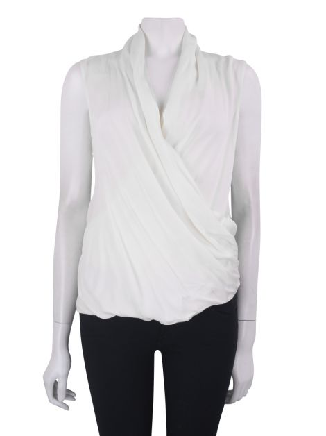 Blusa Theory Seda Off White