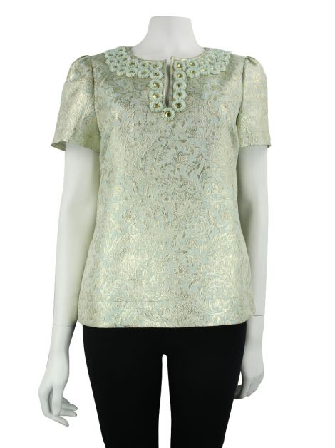 Blusa Tory Burch Brocado Menta