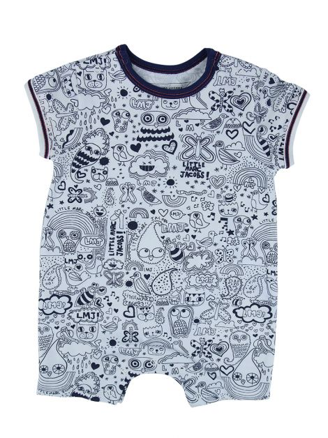Body Little Marc Jacobs Branco Estampado Infantil