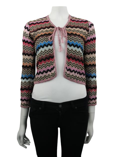 Bolero Missoni Estampado Brilho