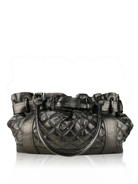 Bolsa Burberry Beaton Metallic Chumbo
