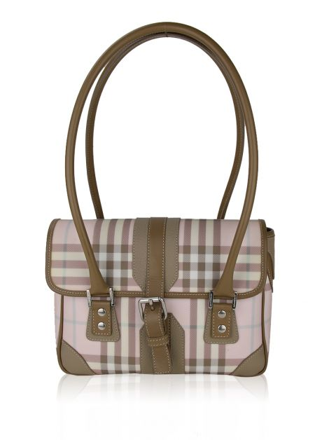 Bolsa Burberry Candy Check Canvas