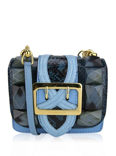 Bolsa Burberry Mini Square Buckle Azul