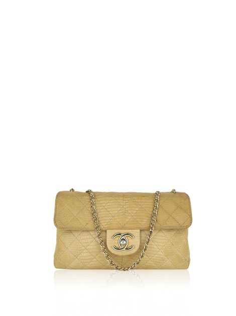 b4490a244224f Comprar. Bolsa Chanel Accordion Flap Nude ...