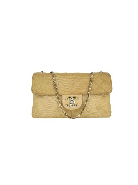 Bolsa Chanel Accordion Flap Nude