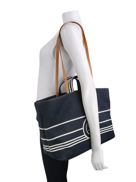 Bolsa Chanel CC Shopping Tote Denim