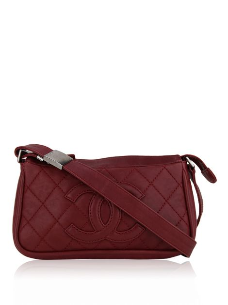 Bolsa Chanel CC Timeless Pocket Vinho