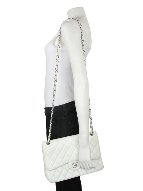 Bolsa Chanel Double Flap Branca