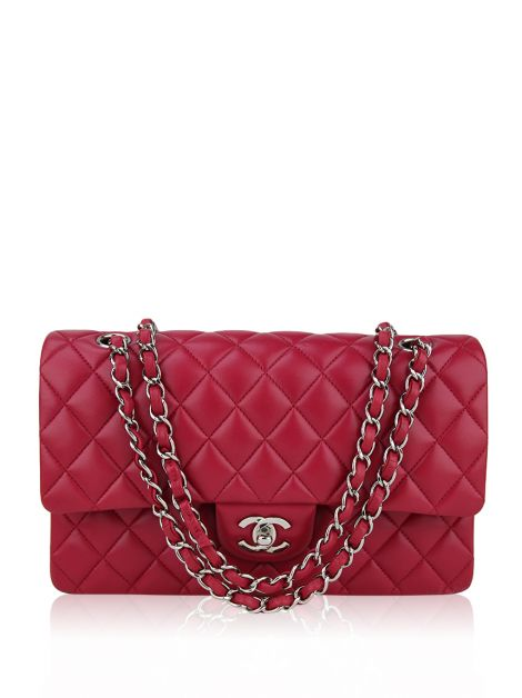 Bolsa Chanel Double Flap Lambskin Pink