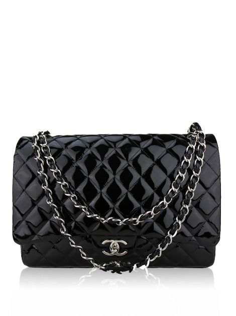 Bolsa Chanel Double Flap Verniz Preto