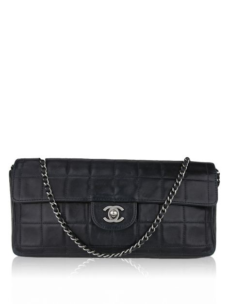Bolsa Chanel East West Chocolate Bar Vintage Preta