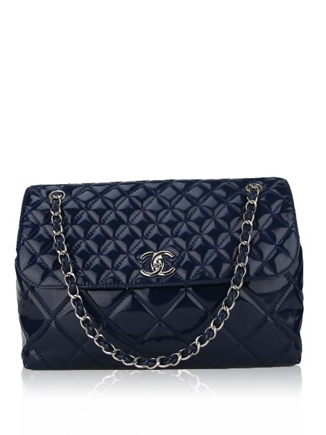 Bolsa Chanel In the Business Azul Marinho