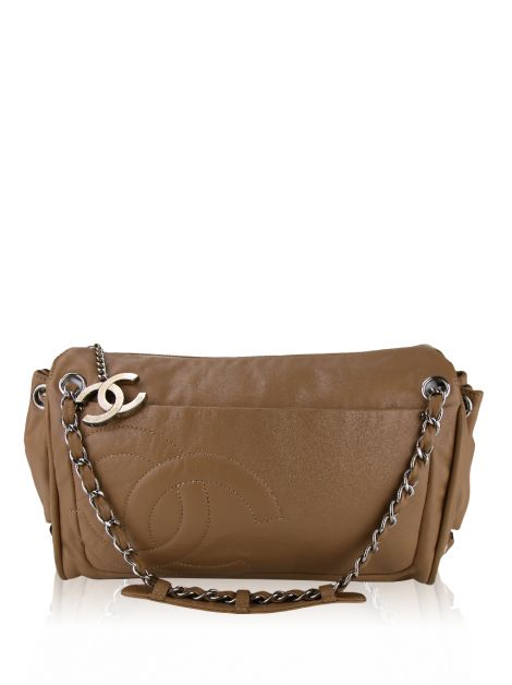 Bolsa Chanel Ligne Diagonal Accordion Caramelo