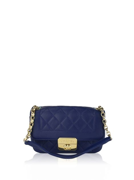 Bolsa Chanel Mini Chic With Me Azul