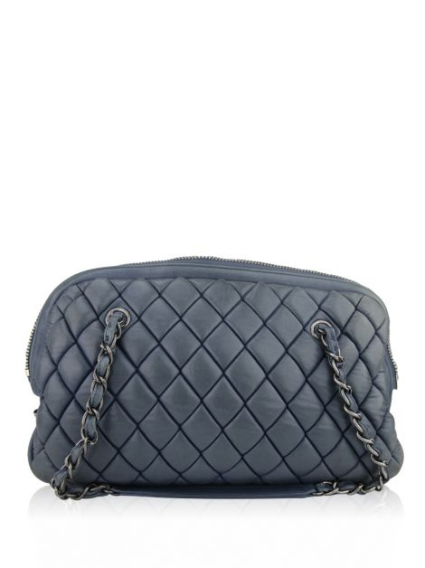 Bolsa Chanel New Bubble Quilt Bowler Azul