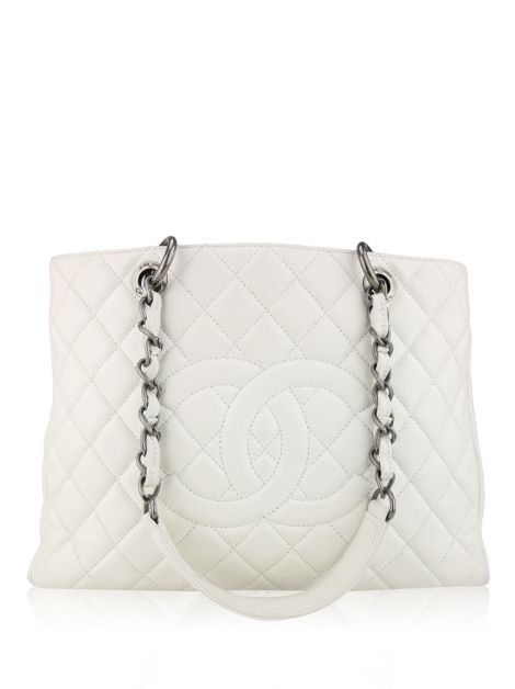 Bolsa Chanel Shopper Off White