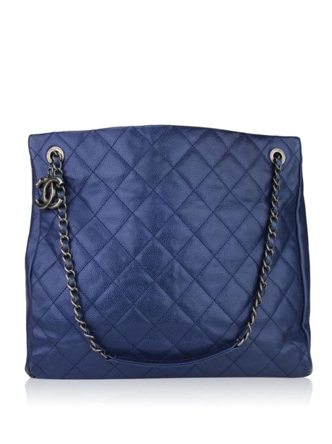 Bolsa Chanel Shopping Tote Azul