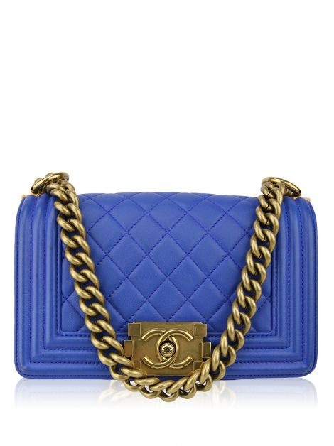 Bolsa Chanel Boy Small Azul