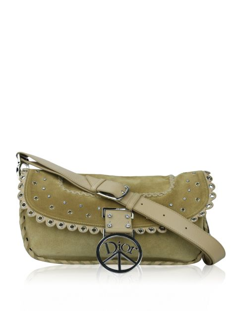 Bolsa Christian Dior Boho Hippie Peace Sign Caramelo