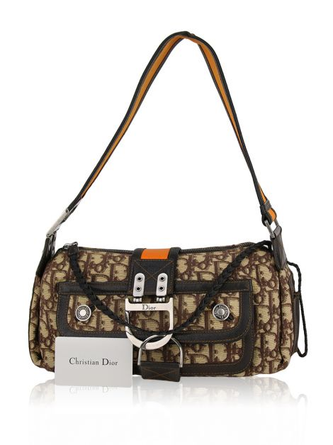 Bolsa Christian Dior Flight East West Laranja