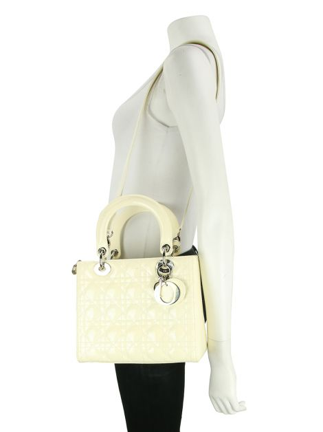 Bolsa Christian Dior Lady Dior Off White