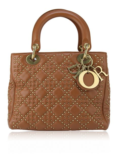 Bolsa Christian Dior Lady Dior Mini Supple Studded